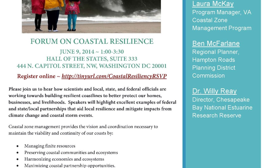 Coastal Management Connection Series: Promoting and Improving Local Coastal Resilience